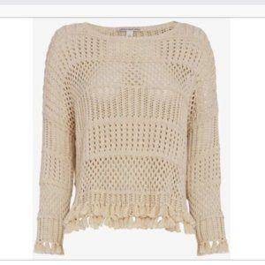 Cotton by Autumn Cashmere Fringe Sweater Pullover
